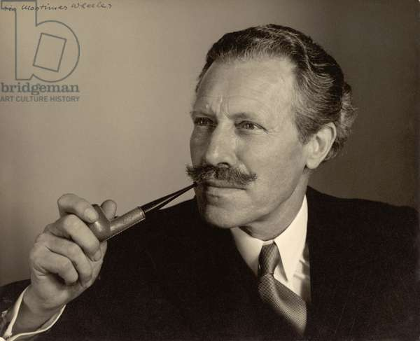 Sir Mortimer Wheeler (1890-1976) (b/w photo)