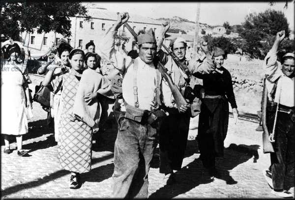Civil War of Spain: Popular Militia in August 1936 - spanish civil war