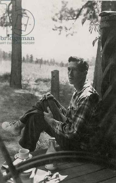 William Goyen in Taos, New Mexico, 1949 (b/w photo)