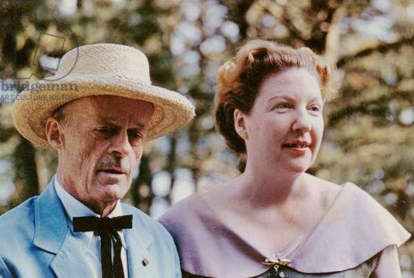 Allen Tate and wife Caroline Gordon, Wellfleet, Massachusetts, 3 July 1960 (photo)