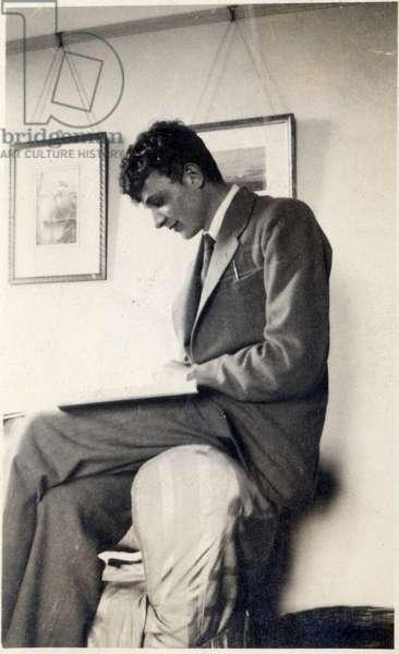 Self portrait aged 16, 1925 (b/w photo)