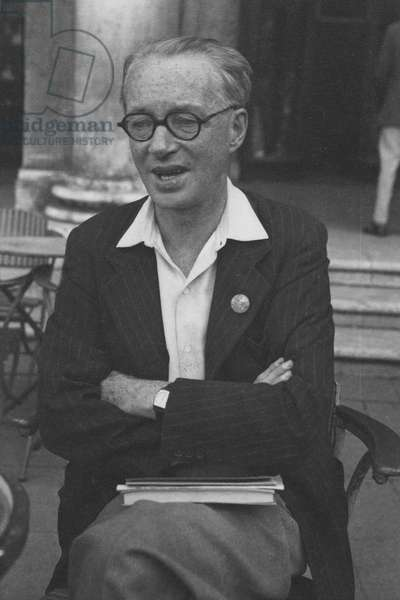 Edwin Muir in Venice for the PEN Conference, 1949 (b/w photo)