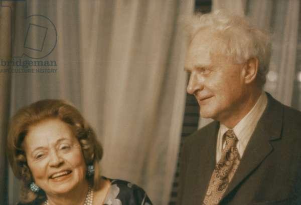 Stephen Spender and Vera de Bosset Stravinsky, 1967 (photo)