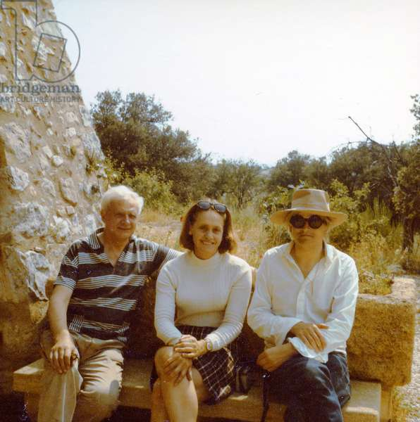 Stephen and Natasha Spender with David Hockney in Provence, c.1964 (photo)