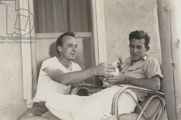William Goyen and Walter Berns in Taos, New Mexico (b/w photo)