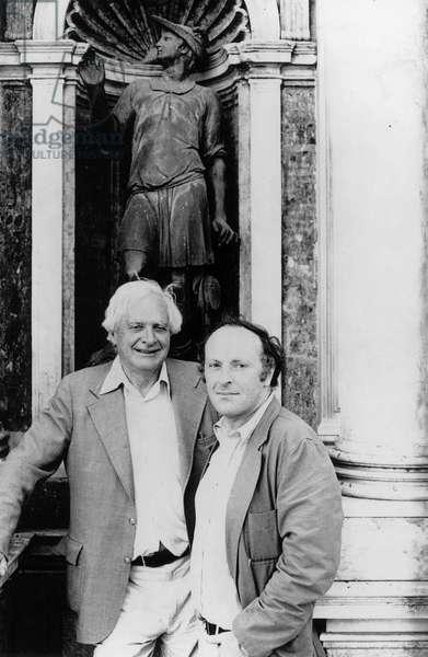 Stephen Spender and Joseph Brodsky (b/w photo)