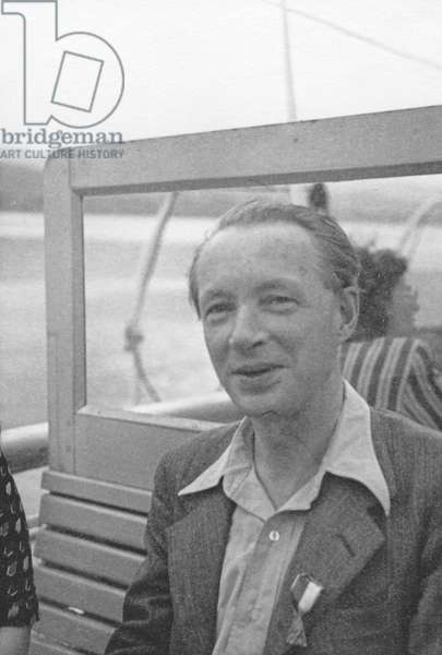 Edwin Muir at the PEN Conference in Venice, 1949 (b/w photo)