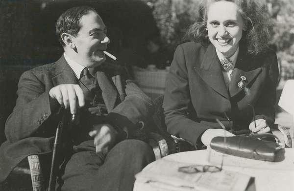 Isaiah Berlin and Natasha Spender, c.1949 (b/w photo)
