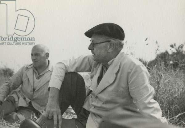 William Plomer and Charles (b/w photo)