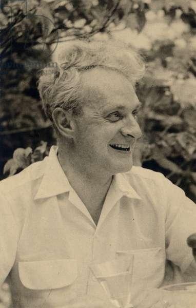 Sir Stephen Spender, 1962 (b/w photo)