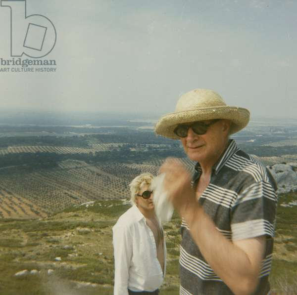Stephen Spender and David Hockney in Provence, c.1964 (photo)