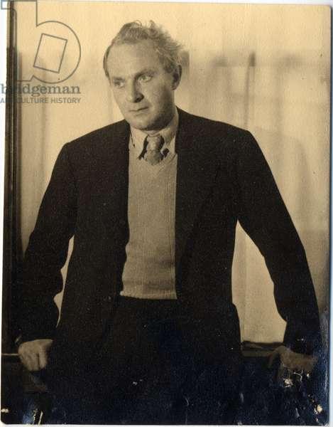 Sir Stephen Spender, c.1955 (b/w photo)