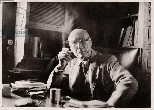 André Gide (b/w photo)