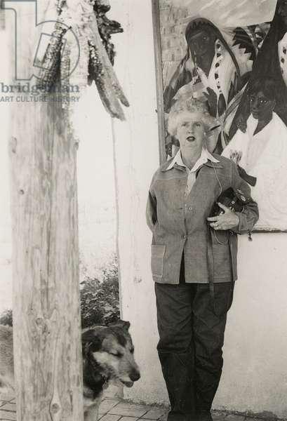 Dorothy Brett in Taos, New Mexico, 1949 (b/w photo)