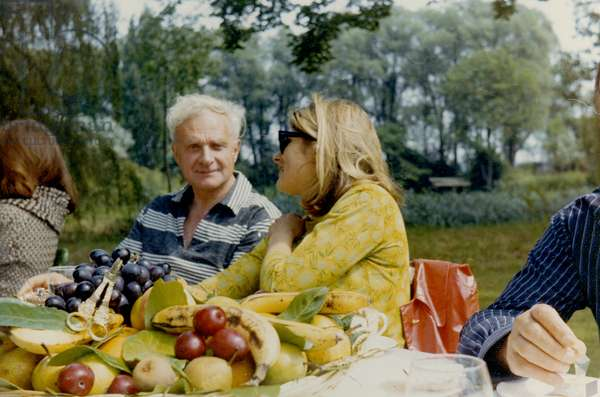 Stephen Spender and Gaia Servadio in Provence, c.1964 (photo)