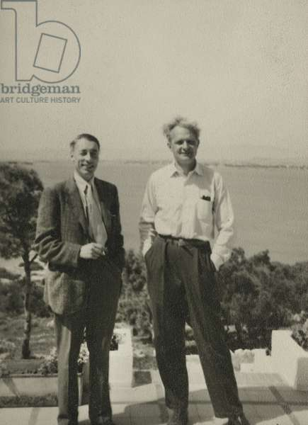 Stephen Spender and Louis MacNeice (b/w photo)