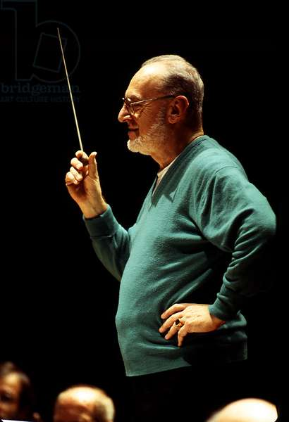 Michael Gielen in Paris, 1998. Austrian conductor and composer b. 20 July 1927-.