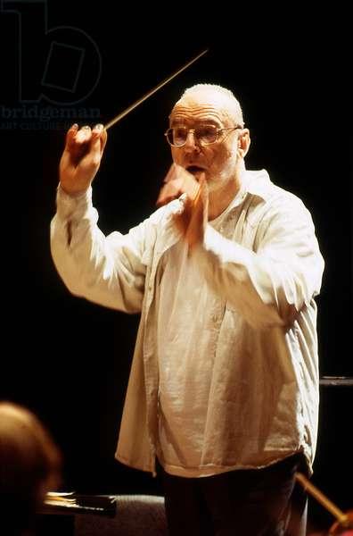 Michael Gielen - German conductor, Paris. b. 29 July 1927 -