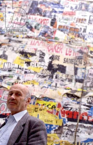 Jacques Villeglé, Paris, 2000.  French artist b. 1926.