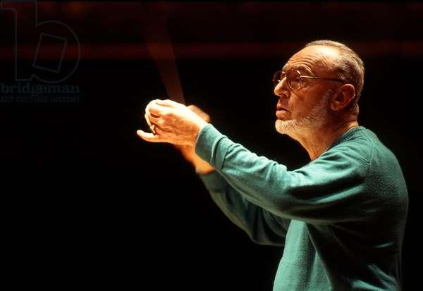 Michaèl Gielen - portrait of the German conductor, Paris. 1998. Michael