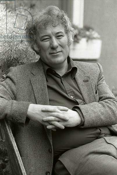 Seamus Heaney. Portrait photograph taken in Dublin, 1983. Irish poet, born in 1939.