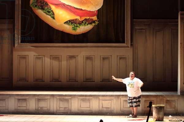 The return of Ulysses, Opera by Claudio Monteverdi. March 2017 production at the Théatre des Champs Elysées, Paris, directed by Emmanuelle Haïm with the Orchestra Le Concert d'Astrée. Art direction by Mariane Clément. Act 4