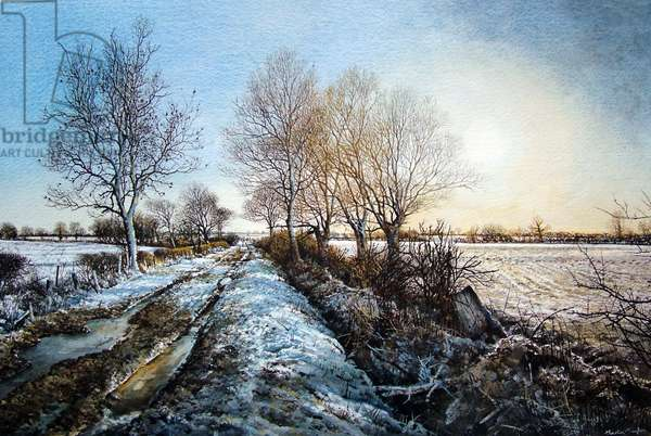 Snowpath (watercolour)