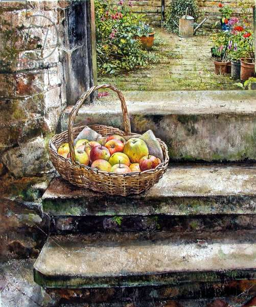 On the Step (watercolour)