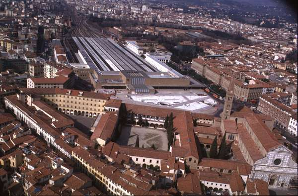 Aerial View of Stazione Santa Maria Novella, Florence (photo)