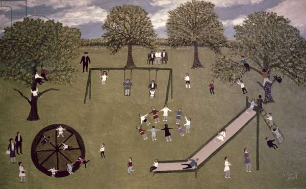 The Playground, 1967 (oil on board)