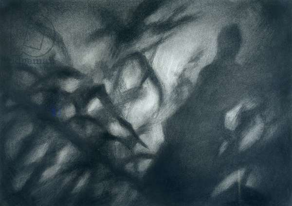 Through the Foliage, 2006 (charcoal on paper)