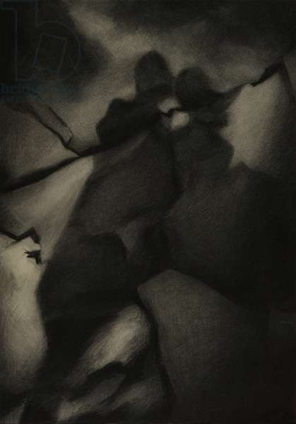 Maybe, 2008 (charcoal on paper)