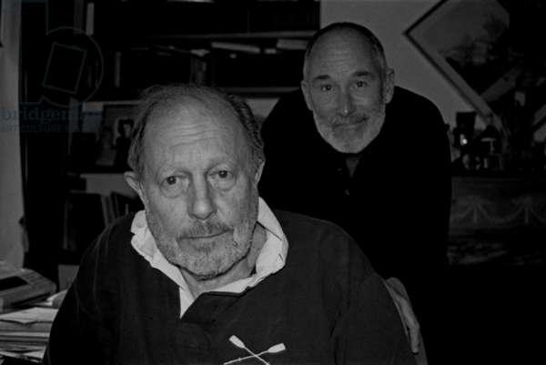 Nicolas Roeg and Michael Allin (b/w photo)