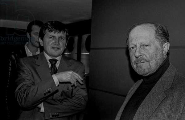 Charles Simonyi and Nicolas Roeg, St James Hotel (b/w photo)