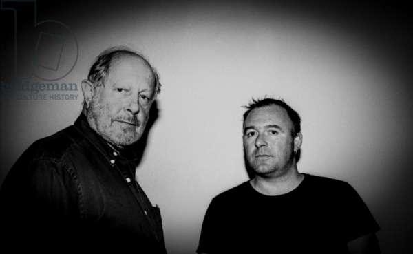 Nicolas Roeg, Adrian Utley, Sound Studio 2, Soho (b/w photo)