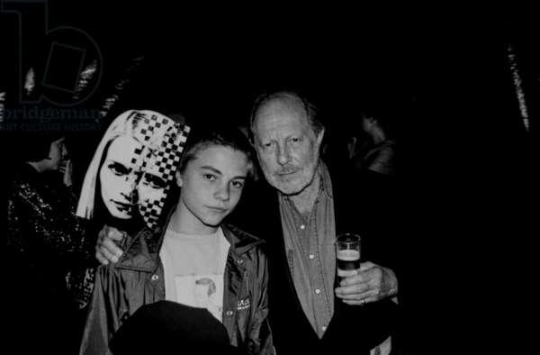 Nicolas and Max Roeg, Venice Film Festival, 2000 (b/w photo)