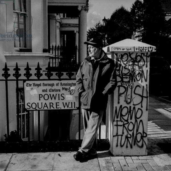 Nicolas Roeg, Powis Square, Notting Hill, London (b/w photo)