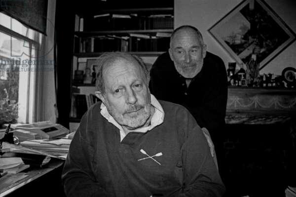Nicolas Roeg and Michael Allin, Courtnell Street, London, 1995 (b/w photo)