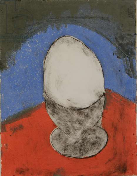 the bachelors perfect egg 1, 2010 (drypoint & stencil)