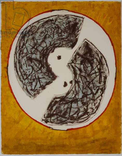 via incarnata, 2008 (lithograph & stencil)