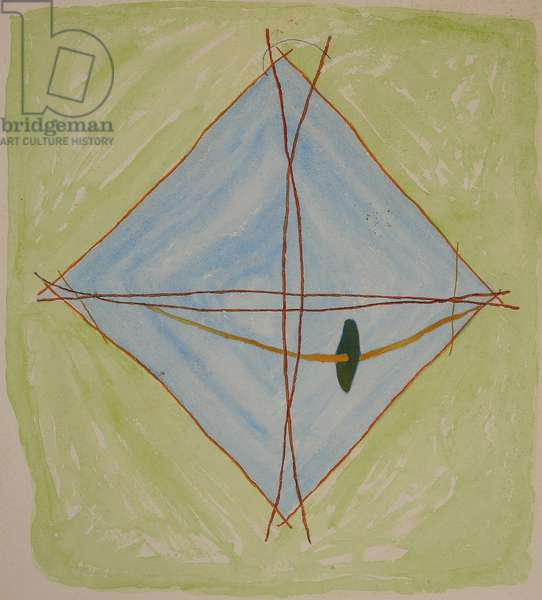 stick chart 6, 2014 (aquarelle crayon)