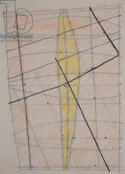 stick chart 3, 2014 (aquarelle crayon)