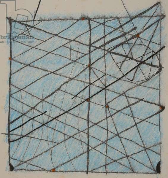 stick chart 1, 2014 (aquarelle crayon)