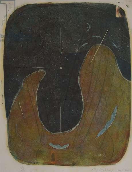 tabla trois, 2020 (linocut)