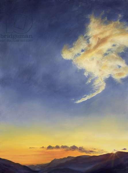Father's Joy (Cloudscape), 2001 (oil on canvas)