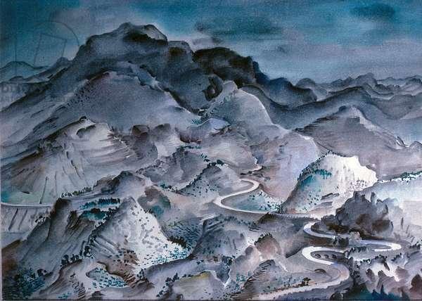 Hilly Landscape, 1934 (w/c)