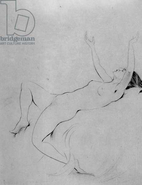 Danae, 1923 (drypoint)
