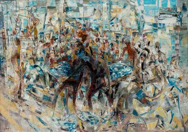 Fish Market (oil on canvas)