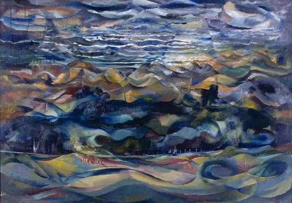 Savernake Forest, 1953 (oil on canvas)