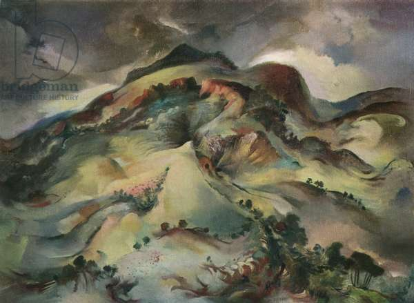 Llanthony Valley, 1948 (oil on canvas)